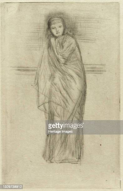 Draped Model, 1870. Artist James Abbott McNeill Whistler.