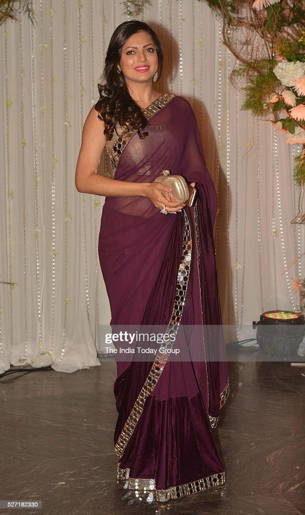 Drashti Dhami at Bipasha Basu and Karan Singh Grovers wedding reception ceremony at St Regis Hotel in Mumbai