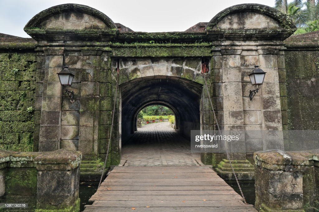 Drawbridge of the Revellin de Puerta Real de Bagumbayan. Intramuros-Manila-Philippines-094 : Stock Photo