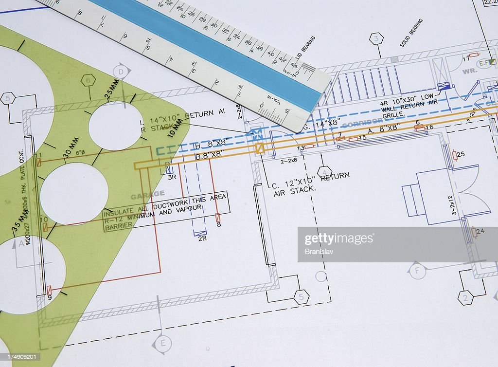 Hvac Drawing 4 High-Res Stock Photo - Getty Images | Hvac Drawing Images Free |  | Getty Images