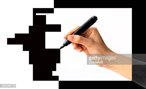 Drawing A Black Composition.