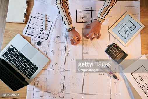 Drawing blueprint stock photo getty images malvernweather Images
