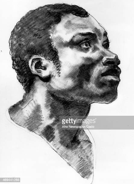 A drawing by Jean Louis Andre Theodore Gericault Head of a Negro charcoal circa 1824 on loan from Mr and Mrs Eugene Victor Shaw on display at the...