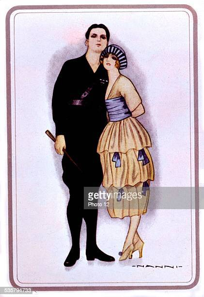 Drawing by Nanni, 'simple and masculine elegance', published in the manifesto of Arditi futurista, , Italy,, Rome. National library, .
