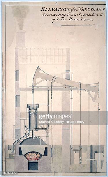 Drawing of a 20 hp Newcomen engine Thomas Newcomen invented the first practical steam engine in 1712 The engine gained its pressure from the...