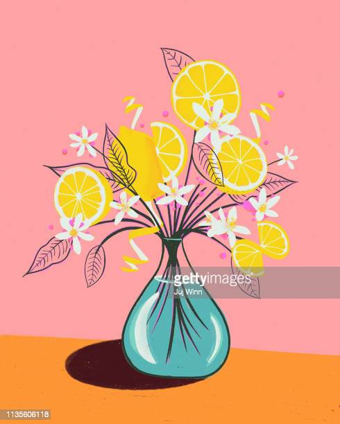 Drawing of a bouquet of lemons