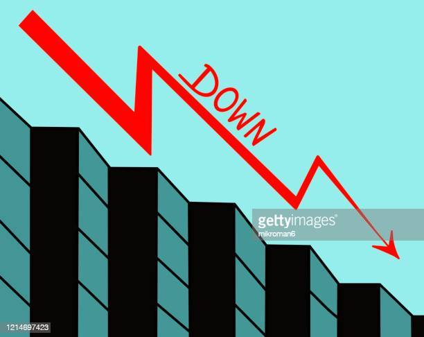 drawing of a graph with an arrow - vector illustrations stock pictures, royalty-free photos & images