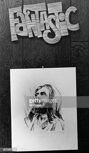 """Drawing of a laughing Jesus, with the word """"fantastic"""" above it, symbolizes joy of being a Christian for members of Faith United Presbyterian Church,..."""