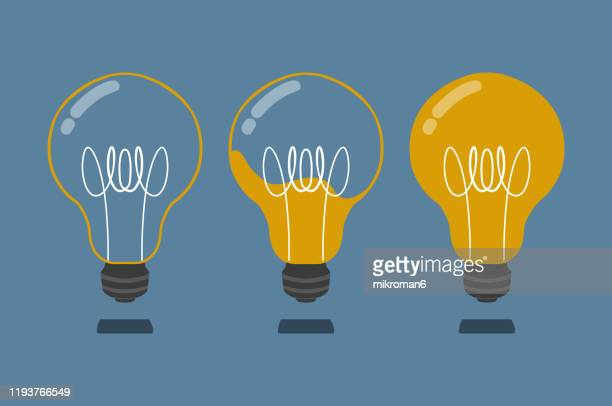 drawing of a light bulb - innovation stock pictures, royalty-free photos & images
