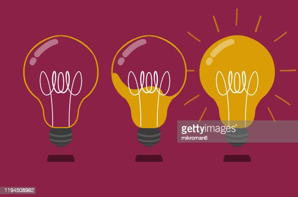 drawing of a light bulb - art and craft stock pictures, royalty-free photos & images