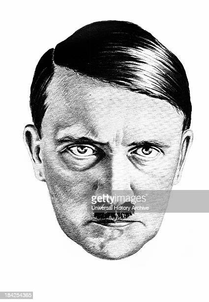 Drawing of Adolf Hitler by H Oloffs based on a Hoffmann photograph Hitler was leader of the Nazi party during world war II