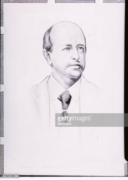 Drawing of American Unitarian clergyman and author Horatio Alger Jr