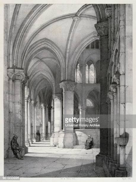Drawing of Chalons Cathedral by Isidore Justin Severin Taylor baron Taylor 17891879 Artist and philanthropist From 'Voyages Pittoresques' 1857...