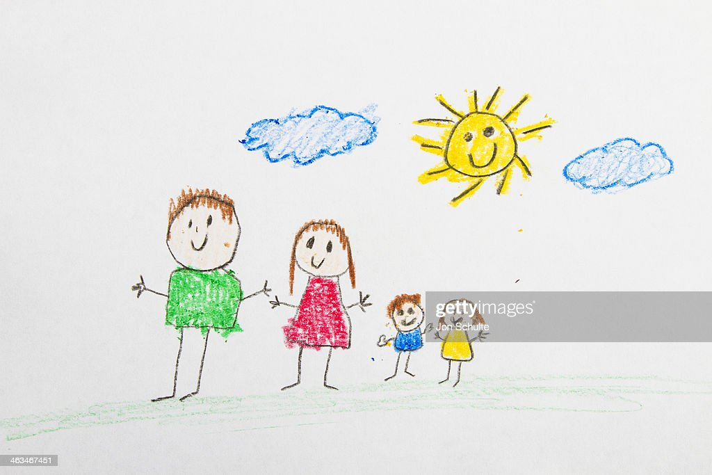 Drawing of Family : Stock Photo