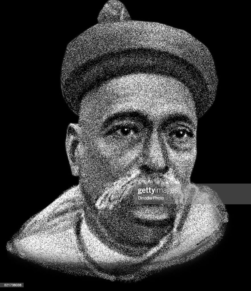 Drawing of freedom fighter of india bal gangadhar tilak india asia drawing of freedom fighter of india bal gangadhar tilak india asia stock photo thecheapjerseys Gallery