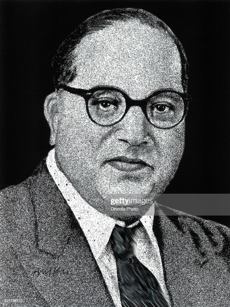 Drawing of Freedom Fighters of India Dr Babasaheb R Ambedkar, India, Asia : ストックフォト