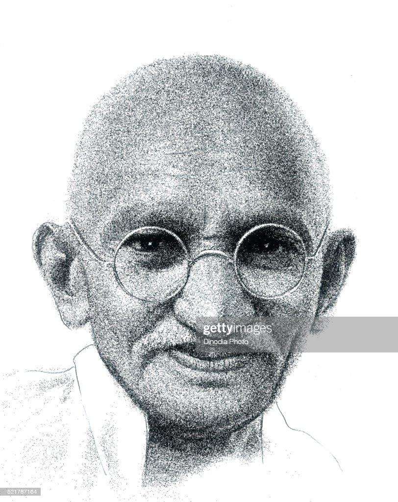 Drawing Of Freedom Fighters Of India Mohandas Karamchand Gandhi India Asia High Res Stock Photo Getty Images