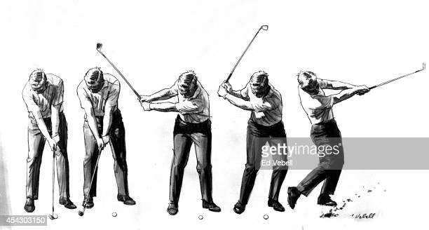 A drawing of golfer Jack Nicklaus circa 1960