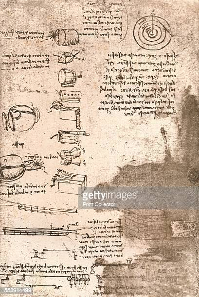 Drawing of musical instruments and other objects c1472c1519 From The Literary Works of Leonardo Da Vinci Vol II by Jean Paul Richter PH DR [Sampson...