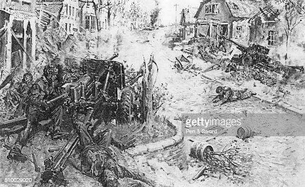 Drawing of The Battle of Arnhem September 1944 France