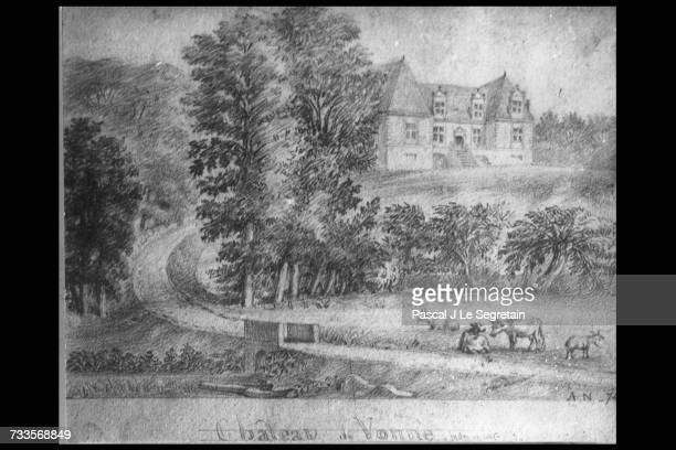 Drawing of the Chateau of Vonnes Balzac uses the chateau in 'Lily of the Valley'