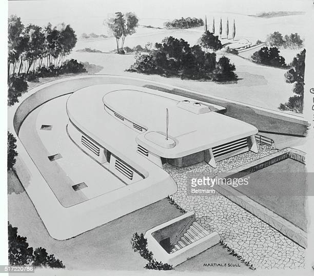 A drawing of the home which may be the forerunner of the atomic age era It was conceived by Jacques Martial and Robert C Scull internationally known...