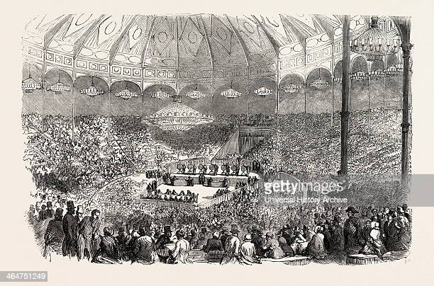 Drawing Of The Lottery Of The Golden Ingots In The Circus Of The Champs Elysees At Paris France