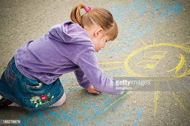 Drawing on the playground