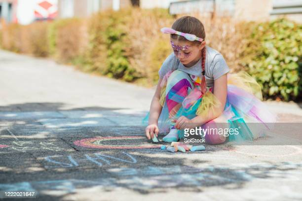 drawing rainbows for the nhs - nhs stock pictures, royalty-free photos & images