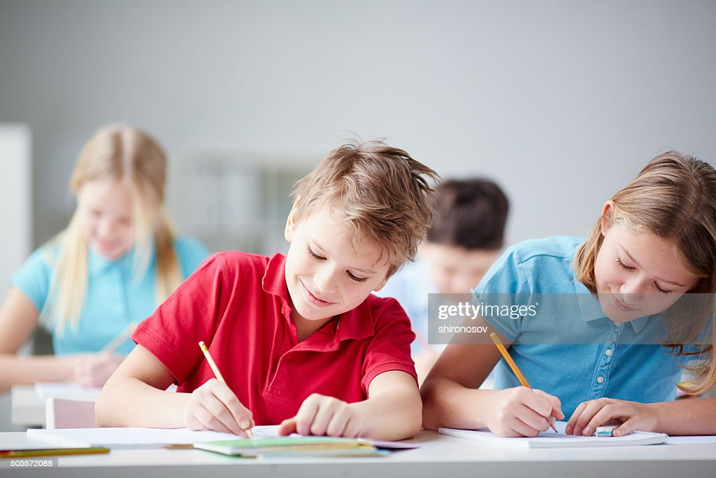 Drawing together : Stock Photo