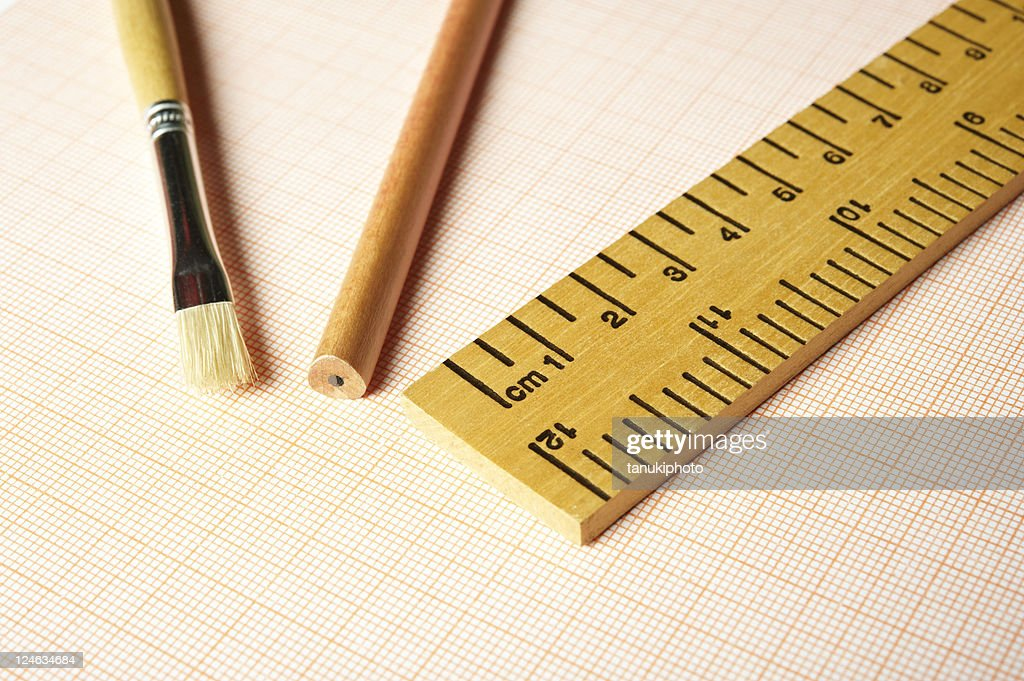 drawing tools on millimetric paper stock photo getty images