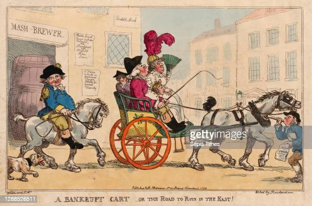 Drawings and Prints, A Bankrupt Cart, or The Road to Ruin in the East!, Publisher, Artist, After, Rudolph Ackermann, Thomas Rowlandson, George...