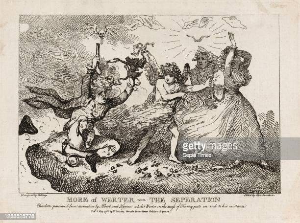 Drawings and Prints, More of Werther–The Separation: Charlotte Preserved from Destruction by Albert and Hymen, whilst Werther in an access of frenzy...