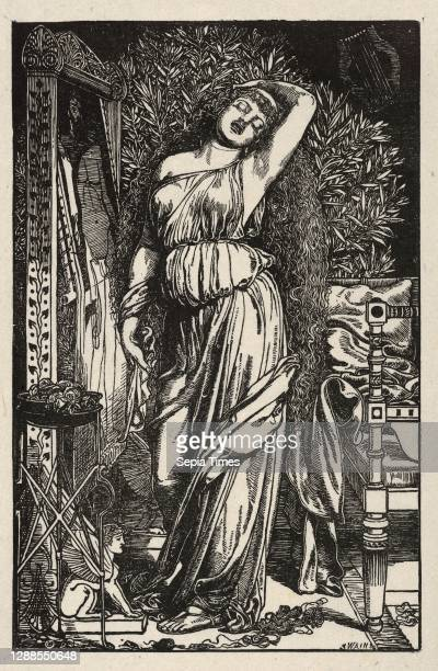 Drawings and Prints, Print, Danaë in the Brazen Chamber, Engraver, Artist, After, Joseph Swain, Frederick Augustus Sandys, British, Oxford 1820–1909...