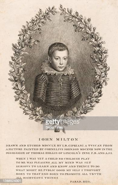 Drawings and Prints, Print, John Milton as a Boy, Author, Sitter, Artist, Subject, Illustrates book by, After, Associated with, John Toland, John...
