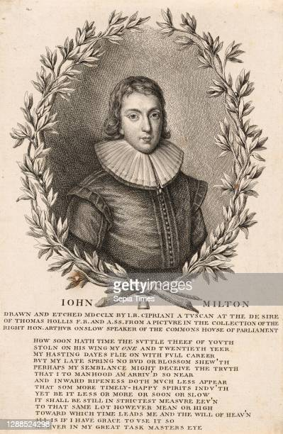 Drawings and Prints, Print, John Milton, Author, Sitter, Artist, Subject, Illustrates book by, Associated with, John Toland, John Milton, Giovanni...