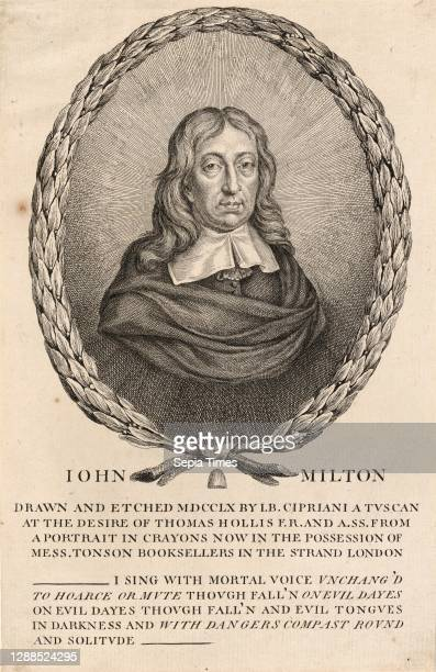 Drawings and Prints, Print, John Milton, Sitter, Subject, Author, Etcher, Artist, Associated with, Illustrates book by, After, John Milton, Thomas...