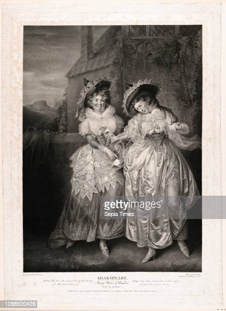 Drawings and Prints, Print, Mrs. Ford and Mrs Page , Boydell'shakespeare Gallery, Engraver, Publisher, Subject, Artist, After, Robert Thew, John &...
