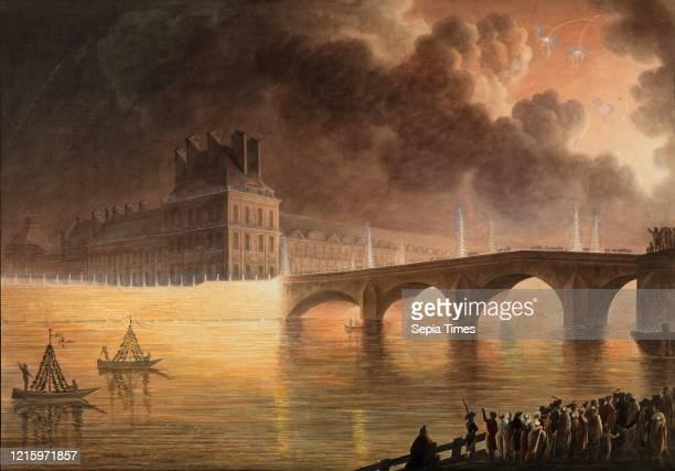 Drawings and Prints. Print Ornament & Architecture. Fete pour la Paix Generale donnee a Paris le 18 Brumaire. Pont du Carrousel. Artist. Francesco...