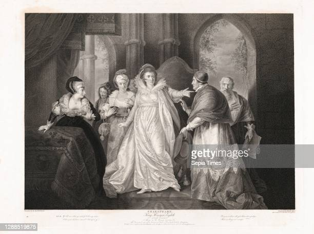 Drawings and Prints, Print, Queen Catherine, Cardinal Wolsey and Cardinal Campeius , Boydell'shakespeare Gallery, Subject, Artist, Engraver,...
