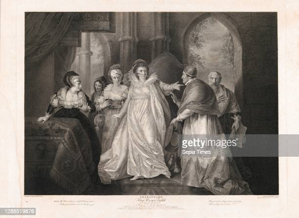 Drawings and Prints, Print, Queen Catherine, Cardinal Wolsey and Cardinal Campeius , Boydell'shakespeare Gallery, Subject, Engraver, Artist,...