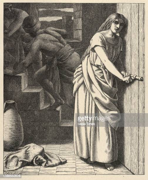 Drawings and Prints, Print, Rahab and the Spies , Printer, Publisher, Engraver, Artist, After, Camden Press, Scribner and Welford, Dalziel Brothers,...