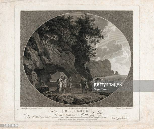 Drawings and Prints, Print, The Tempest, Act I: Ferdinand and Miranda, Artist, Engraver, Artist, Publisher, Subject, After, After, Giovanni Battista...