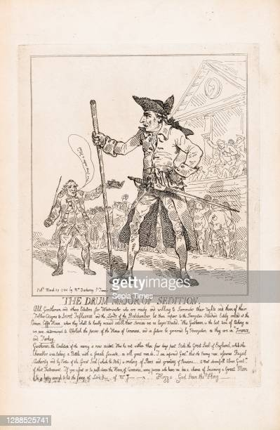 Drawings and Prints, The Drum Major of Sedition, Publisher, Subject, Artist, Subject, Subject, Elizabeth Darchery, Charles Jenkinson, Charles James...