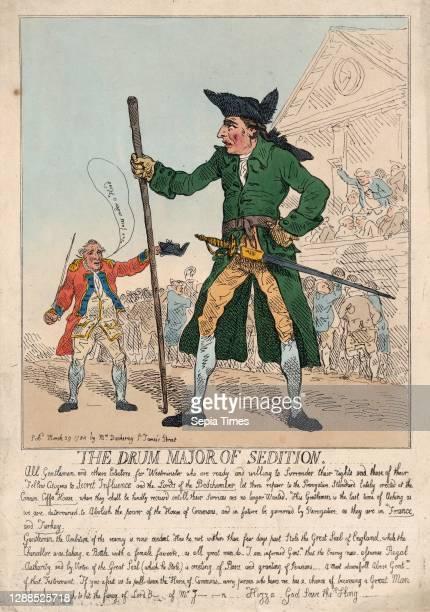 Drawings and Prints, The Drum Major of Sedition, Subject, Publisher, Subject, Artist, Subject, Charles James Fox, Hannah Humphrey, John Stuart, 3rd...
