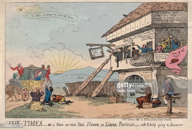 Drawings and Prints, The Times - Or A View Of The Old House In Little Brittain - With Nobody Going To Hannover, Publisher, Artist, Subject, Subject,...