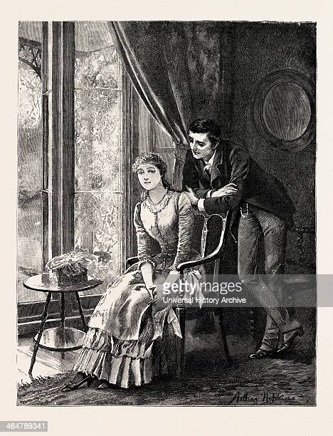 Drawn By Arthur Hopkins Couple Engraving 1884 Life In Britain UK Britain British Europe United Kingdom Great Britain European