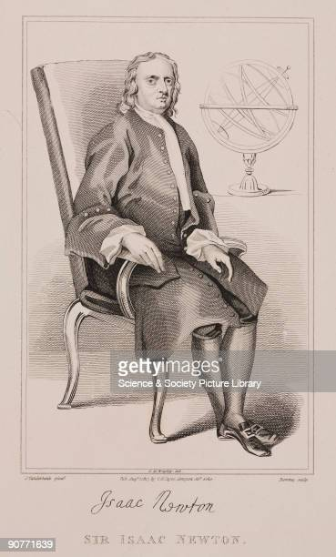 Drawn by G M Brighty after an engraving by George Romney based on an original oil painting by John Vanderbank Newton graduated from Trinity College...