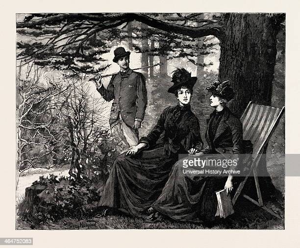 Drawn By Percy Macouoid The Great Old Cedar Percy Macquoid 18521925 Was An English Artist And Illustrator Described As The Non Plus Ultra Of Elegance...