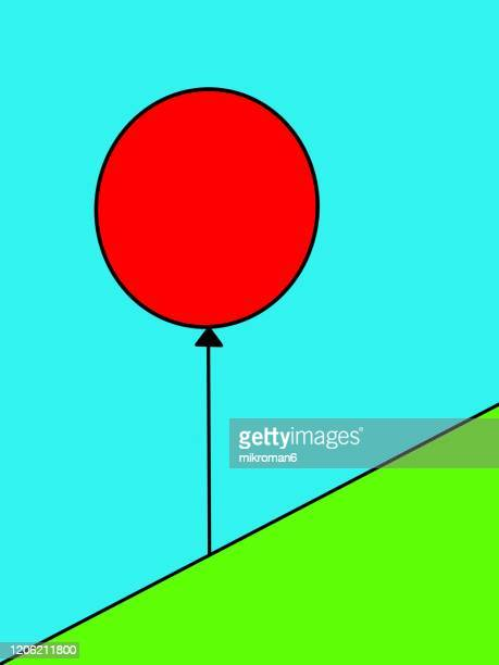 drawn red balloon - two tone color stock pictures, royalty-free photos & images